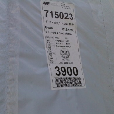 Detailed product information on secure label on packaging